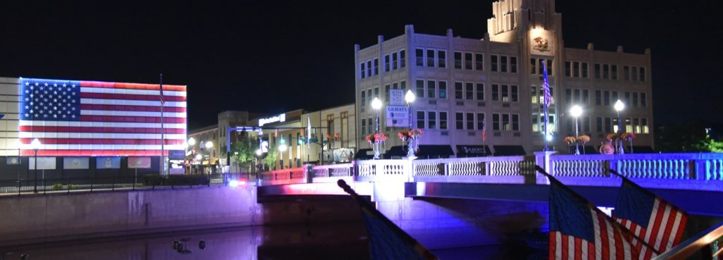 Downtown Sharon State Street Bridge Lights