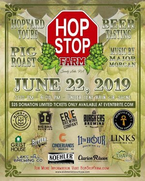 Tickets now on sale for the 2nd Annual Hop Stop Farm event in Mercer County, PA
